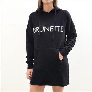Brunette the Label Brunette Black Hoodie Dress.